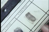 Close-up of person being fingerprinted Stock Footage