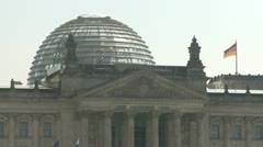 Glass Dome Berlin Reichstag Stock Footage