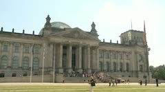 Reichstag Berlin - stock footage