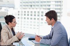 Business team negotiating - stock photo