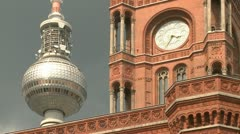 Television Tower Berlin - stock footage
