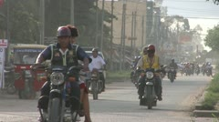 Peruvian Street Traffic Stock Footage