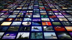 Video wall panorama perspective Stock Footage