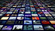 Stock Video Footage of Video wall panorama perspective