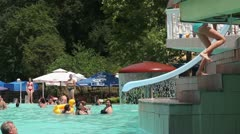 Water slide (side) Stock Footage