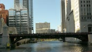 Stock Video Footage of Madison and Monroe Bridges in Chicago, IL