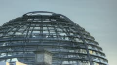 Glass Dome Berlin Reichstag - stock footage