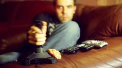 playing joystick video game videogame - stock footage