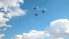 Apache AH-64s Fly-by 1080 Stock Footage
