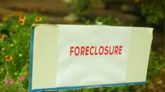 Repo foreclosed forclosure property Stock Footage