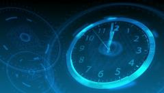 10 seconds to 12 - Hi-tech Clock 57 (HD) Stock Footage