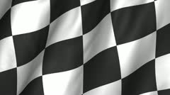 Stock Video Footage of Checker Waving Flag 1080
