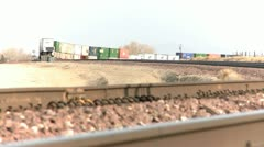 Cargo Train - stock footage