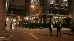 London PUB Night Stock Footage