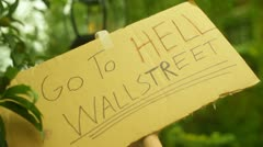 Wallstreet protest 99 Stock Footage