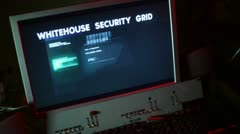Whitehouse security computer Stock Footage