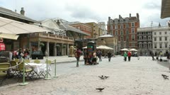 Covent Garden London UK  July 7th 2012. Stock Footage
