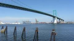 Terminal Island Bridge Stock Footage