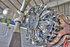 DC 3 Engine 2 HDR.jpg - stock photo