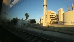 Riding on LA Metro Stock Footage
