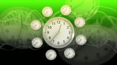 Time Flies - Clock 62 (HD) Stock Footage