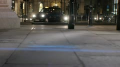 London  traffic anamorphic flares cab doubledecker Stock Footage