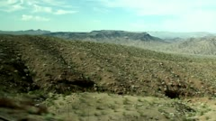 View of the American nature landscape from the car window (in motion, Arizona). Stock Footage