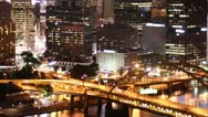Stock Video Footage of Pittsburgh Skyline Time Lapse Night 2515