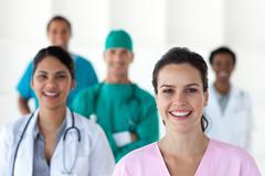 International medical team - stock photo