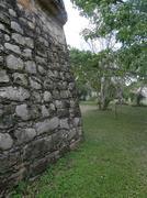 Ek Balam,Temple wall to courtyard , Mayan Ruins, Yucatan, Mexico Stock Photos
