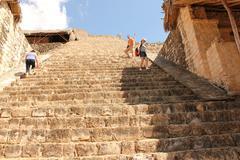 Ek Balam, Pyramid, Mayan Ruins, Yucatan, Mexico Stock Photos