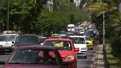 Athens street traffic 4 - stock footage