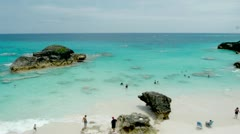 Bermuda Beach Stock Footage