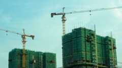 Time lapse of Building Under Construction Stock Footage