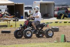 Man on ATV ready to race 1249.jpg - stock photo