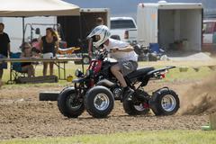 ATV race four wheel start 1250.jpg - stock photo