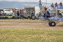 Powerful ATV wheel stand race 1255.jpg - stock photo