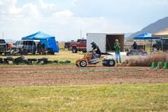 Rural ATV motorcycle sand drag race 1258.jpg - stock photo