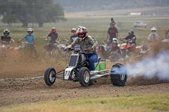 Powerful modified ATV motorcycle dirt race 1284.jpg - stock photo