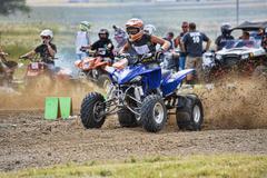 High speed powerful ATV race track 1287.jpg - stock photo