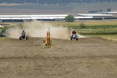 Men racing powerful ATV drag race 1329.jpg - stock photo