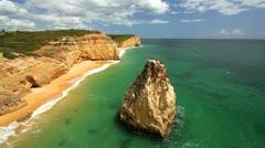 Praia Dos Caneiros, Algarve Stock Footage