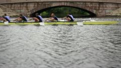 Competition in the Men's eights rowing - stock footage