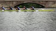 Stock Video Footage of Competition in the Men's eights rowing