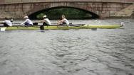 Stock Video Footage of Competition in the Women's eights rowing
