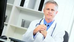Portrait Successful Hospital Consultant Stock Footage