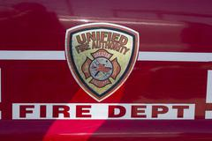 Fire truck decal respond to wildfire 0612 Stock Photos