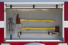 Fire truck equipment ready to deploy to wildfire 0641 - stock photo