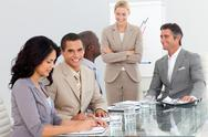 Portrait of a business team at a presentation Stock Photos