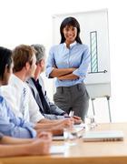 Stock Photo of Assertive businesswoman doing a presentation